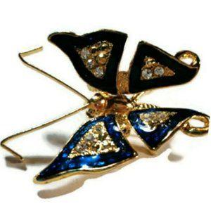 Vintage Goldtone butterfly brooch pin pendant